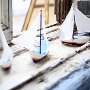 Сувениры и подарки ручной работы. Ярмарка Мастеров - ручная работа Папье-маше регата - яхты №1 и №2, парусные лодки №1 и №2. Handmade.