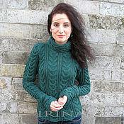 Одежда ручной работы. Ярмарка Мастеров - ручная работа Изумрудный свитер. Handmade.