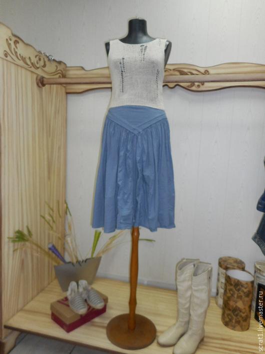 Блузки ручной работы. Ярмарка Мастеров - ручная работа. Купить Вязаный топ  блуза Монвизо, 100%  лен, Италия, бохо. Handmade.
