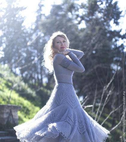 "Платья ручной работы. платье ""Сиреневый туман"". Jannetta knits  Luxury handmade. Интернет-магазин Ярмарка Мастеров. Вязаное платье"