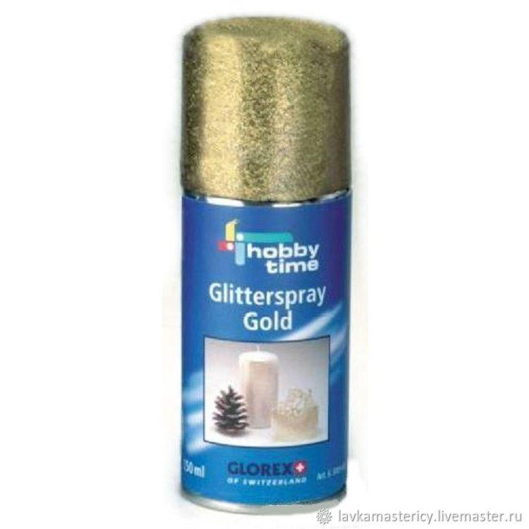Цвет блесток - золото.