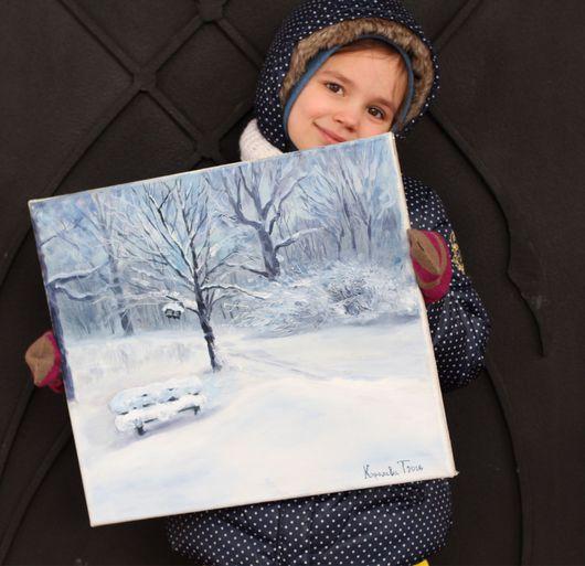 Пейзаж ручной работы. Ярмарка Мастеров - ручная работа. Купить Зимний парк. Handmade. Пейзаж, картина для интерьера, подарок мужчине