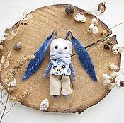 Куклы и игрушки ручной работы. Ярмарка Мастеров - ручная работа Вязаная валяная игрушка Заяц - Кролик - Toy bunny - Rabbit. Handmade.