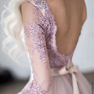 Свадебный салон ручной работы. Ярмарка Мастеров - ручная работа Платье из фатина с кружевом. Handmade.