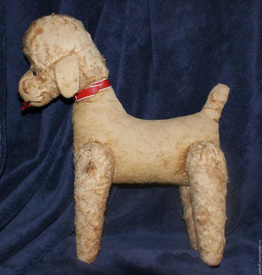 Винтажные куклы и игрушки. Ярмарка Мастеров - ручная работа. Купить Винтажная собака ,игрушка 284. Handmade. Бежевый, солома