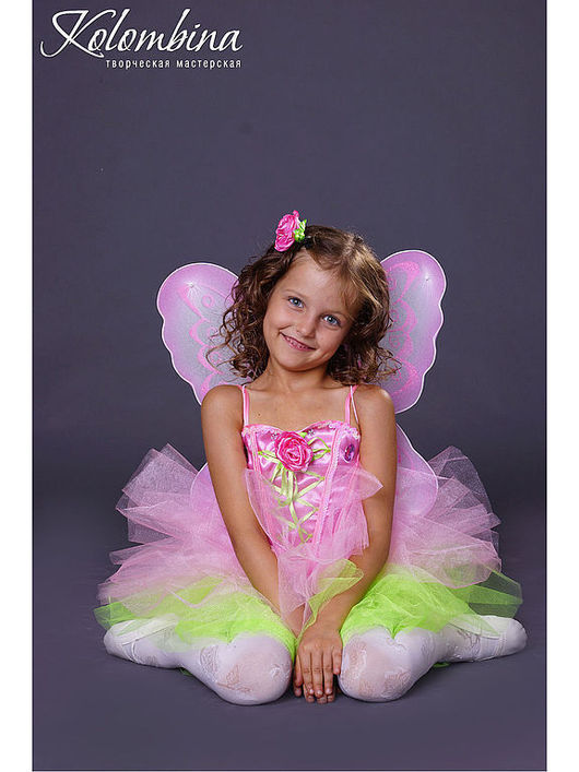 Детские карнавальные костюмы ручной работы. Ярмарка Мастеров - ручная работа. Купить карнавальный костюм бабочки. Handmade. Розовый, бабочка