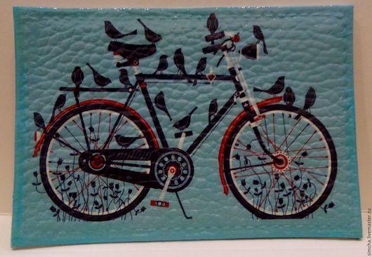 Кожаная обложка, ручная работа, обложка для проездного, обложка для социальной карты, велосипедисту, весна, романтика, подарок на Новый год, подарок на любой случай, прикольная обложка