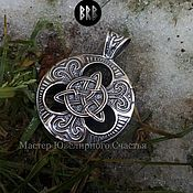 "Pendants handmade. Livemaster - original item Amulet ""Celtic Triskel"" silver 925. Handmade."