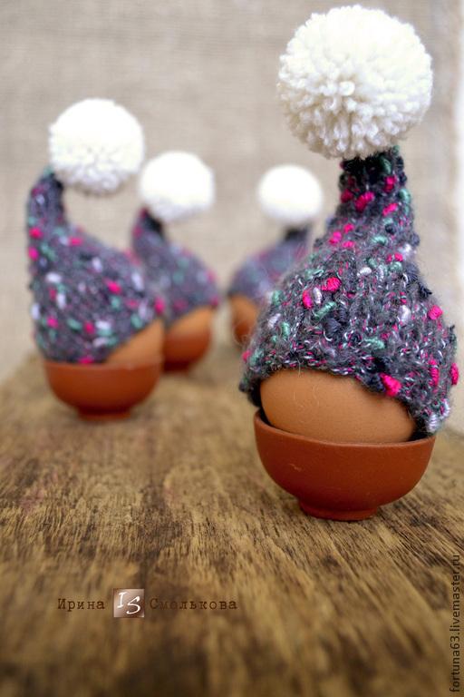 Подарки на Пасху ручной работы. Ярмарка Мастеров - ручная работа. Купить Шапочки-колпачки для пасхальных яиц. Handmade. Шапочка