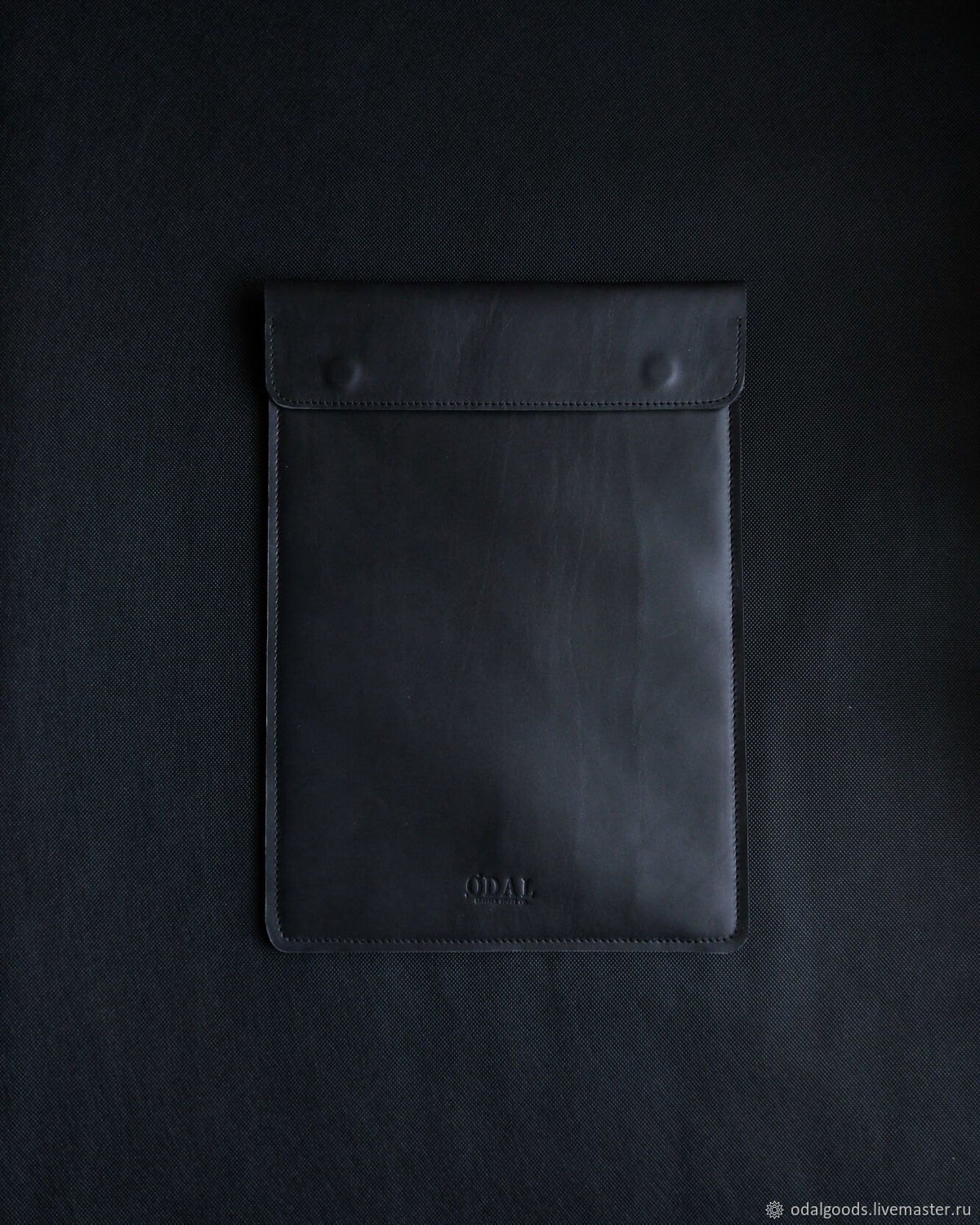 Macbook16 folder (Black) made of leather and felt with magnets, Case, St. Petersburg,  Фото №1
