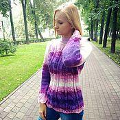Одежда handmade. Livemaster - original item Jumper women knitted mohair size 44-46 pink-lilac spring. Handmade.