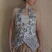 """Одежда ручной работы. Ярмарка Мастеров - ручная работа Жилет """"Изысканная нежность"""". Handmade."""