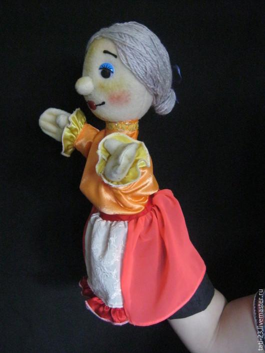 Кукольный театр ручной работы. Ярмарка Мастеров - ручная работа. Купить Тетушка Женя. Перчаточная кукла.. Handmade. Разноцветный, флис