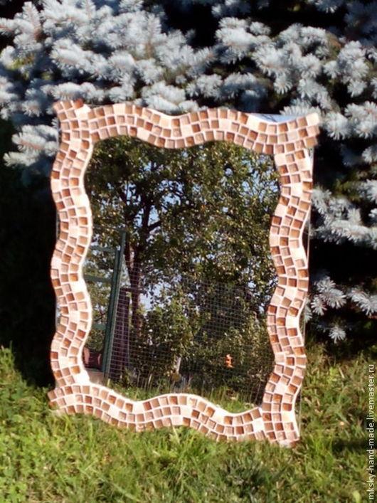 """Зеркала ручной работы. Ярмарка Мастеров - ручная работа. Купить Мозаичное зеркало """"Песочные часы"""". Handmade. Зеркало настенное"""