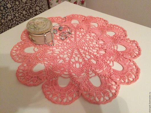 Текстиль, ковры ручной работы. Ярмарка Мастеров - ручная работа. Купить Салфетка Розовая фантазия. Handmade. Салфетка крючком, розовый