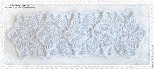 """Текстиль, ковры ручной работы. Ярмарка Мастеров - ручная работа. Купить Набор вязаных салфеток """"Зимние узоры"""" крючком. Handmade."""