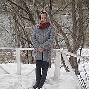 Одежда ручной работы. Ярмарка Мастеров - ручная работа Вязаное пальто с капюшоном. Handmade.