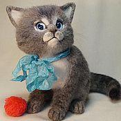 Куклы и игрушки ручной работы. Ярмарка Мастеров - ручная работа Войлочный котенок Тишка. Handmade.