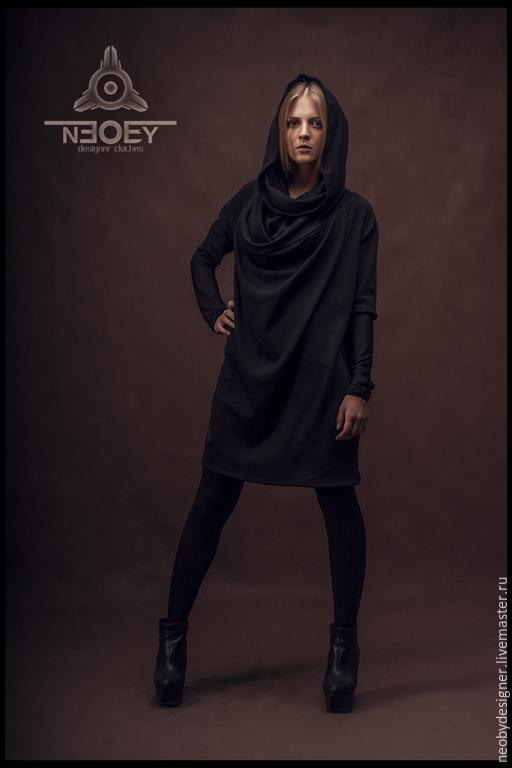 Платья ручной работы. Ярмарка Мастеров - ручная работа. Купить Платье Kiri  от NEOBY - KR 01. Handmade. Черный, необи