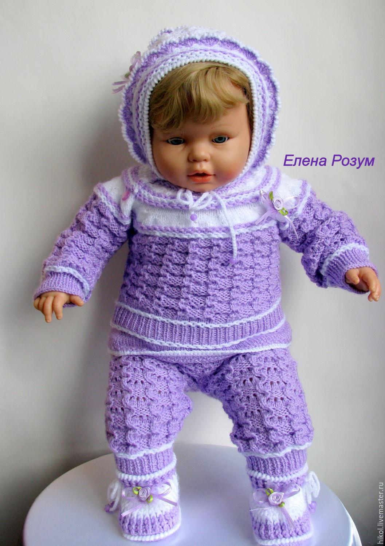 детский вязаный костюм для девочки купить в интернет магазине на