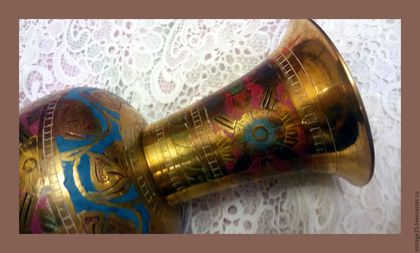 """Винтажные предметы интерьера. Заказать Медная красивая ваза винтаж. Винтажный салон """"Консуэлло"""". Ярмарка Мастеров. Винтажная ваза"""