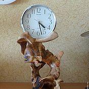 """Для дома и интерьера ручной работы. Ярмарка Мастеров - ручная работа Часы настольные, каминные для рыбака-охотника """"Подводный мир"""". Handmade."""