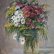 Картины и панно handmade. Livemaster - original item Bouquet of Mimosa. Handmade.