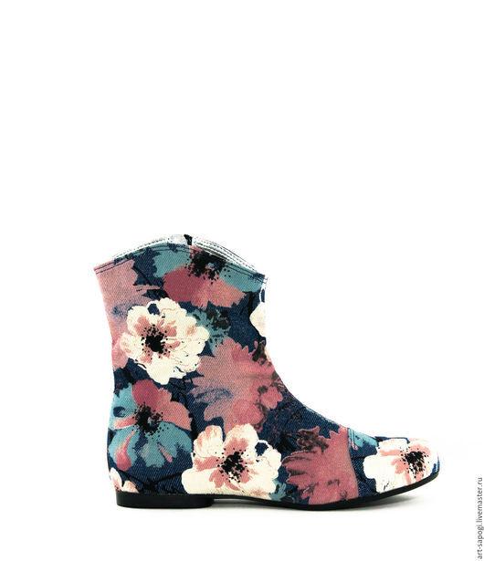 Обувь ручной работы. Ярмарка Мастеров - ручная работа. Купить Летние сапоги 3-152. Handmade. Лето, мода