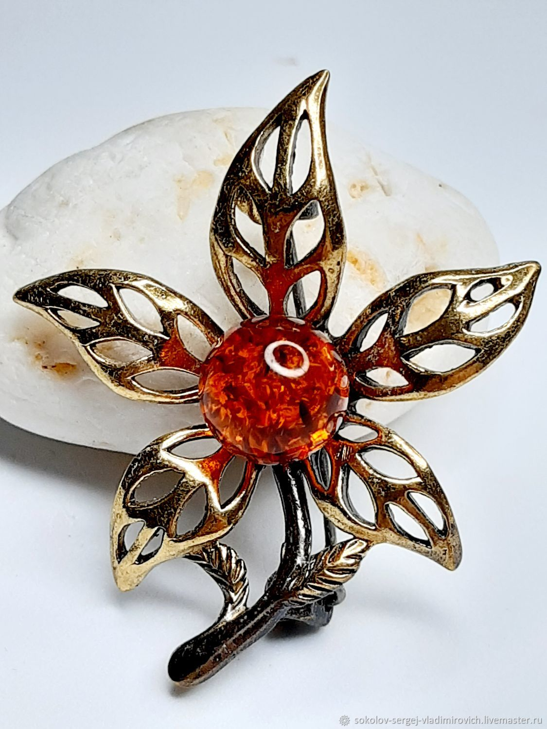 brooch Lily, Brooches, Domodedovo,  Фото №1