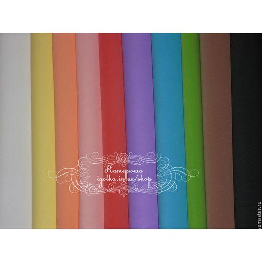 Фоамиран ручной работы. Ярмарка Мастеров - ручная работа. Купить Зефирный фоамиран набор 10цветов 1мм (Китай). Handmade. Комбинированный