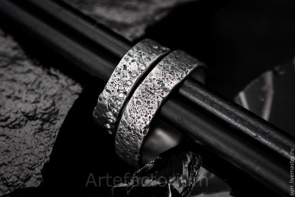 Обручальные кольца с песочной текстурой, Кольца, Москва,  Фото №1