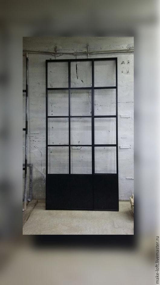 Элементы интерьера ручной работы. Ярмарка Мастеров - ручная работа. Купить Межкомнатная дверь перегородка в стиле лофт. Handmade. Перегородка