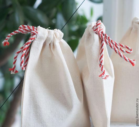 Упаковка ручной работы. Ярмарка Мастеров - ручная работа. Купить Мешочек упаковочный №1. Handmade. Упаковка, белый, лён и хлопок