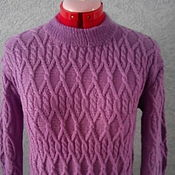 Одежда handmade. Livemaster - original item sweater delicate violet. Handmade.