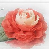 Украшения ручной работы. Ярмарка Мастеров - ручная работа Брошь-цветок Роза. Handmade.