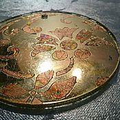 Подарки к праздникам ручной работы. Ярмарка Мастеров - ручная работа Елочное украшение из стекла сказочный цветок состаренное зеркало. Handmade.