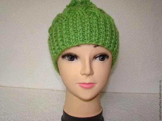 """Шапки ручной работы. Ярмарка Мастеров - ручная работа. Купить шапка """"Фиона"""". Handmade. Зеленый, шапка женская, шапка зимняя"""