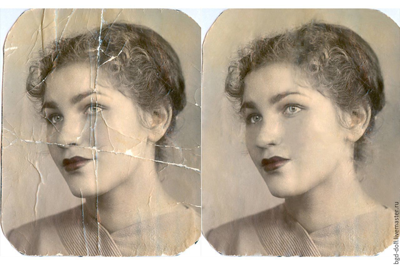 Как в фотошопе старое фото 2