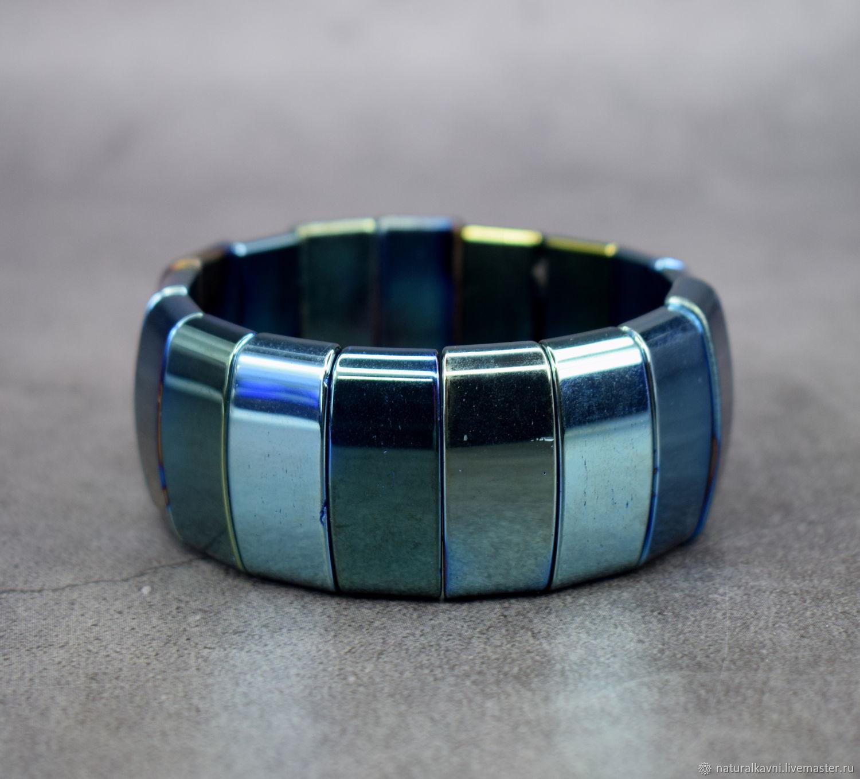 Men's / Women's Bracelet Natural Stone Hematite Chameleon, Bead bracelet, Moscow,  Фото №1