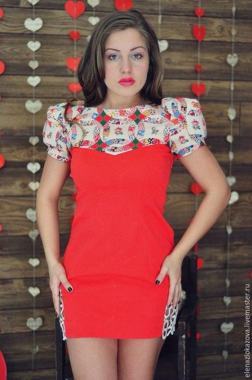 """Платья ручной работы. Ярмарка Мастеров - ручная работа. Купить Платье """"Strawberry"""". Handmade. Ярко-красный, платье для девушки"""
