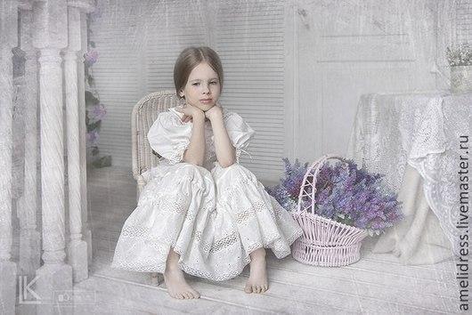 Одежда для девочек, ручной работы. Ярмарка Мастеров - ручная работа. Купить нарядное платье. Handmade. Бежевый, однотонный, нарядное платье