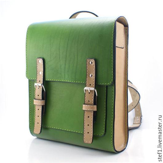 Рюкзаки ручной работы. Ярмарка Мастеров - ручная работа. Купить Кожаный рюкзак Ранец. Handmade. Сумка, сумка мужская