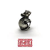 Русский стиль ручной работы. Ярмарка Мастеров - ручная работа Кошельковая мышь для дома. Серебро. Handmade.