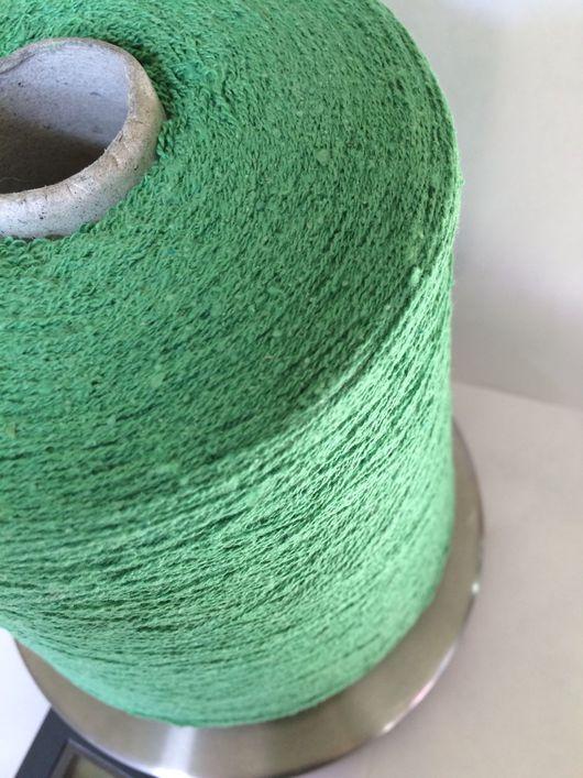 Вязание ручной работы. Ярмарка Мастеров - ручная работа. Купить Шёлк бурет с эластаном молодая зелень. Handmade. Хлопок, зелень