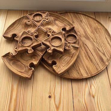Для дома и интерьера ручной работы. Ярмарка Мастеров - ручная работа Тарелка Пазл. Handmade.