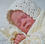 Работы для детей, ручной работы. Ярмарка Мастеров - ручная работа Шапочка для новорожденного.  Чепчик для новорожденного.. Handmade.