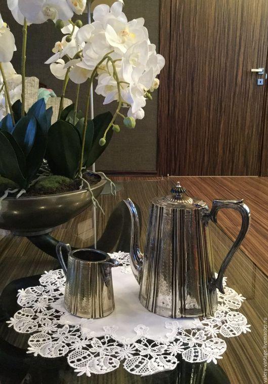 Винтажная посуда. Ярмарка Мастеров - ручная работа. Купить Чайный набор Sheffield, Англия, серебрение.. Handmade. Серебряный, чайник, винтаж