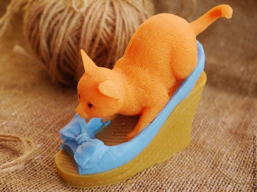 """Мыло ручной работы. Ярмарка Мастеров - ручная работа. Купить Мыло ручной работы """"Кошечка в туфле"""". Handmade. Сувенирное мыло"""