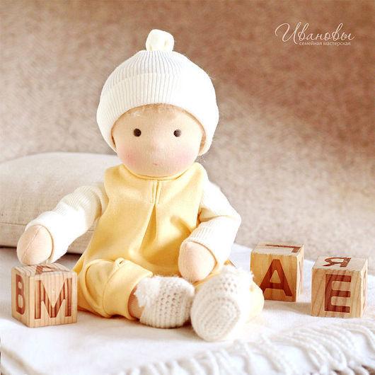 Вальдорфская игрушка ручной работы. Ярмарка Мастеров - ручная работа. Купить Вальдорфская кукла Солнечная Непоседа. Handmade. Вальдорфская кукла