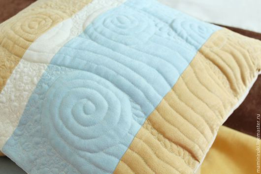 """Текстиль, ковры ручной работы. Ярмарка Мастеров - ручная работа. Купить Подушки  интерьерные, лоскутные """"Волны"""". Handmade. Бирюзовый"""